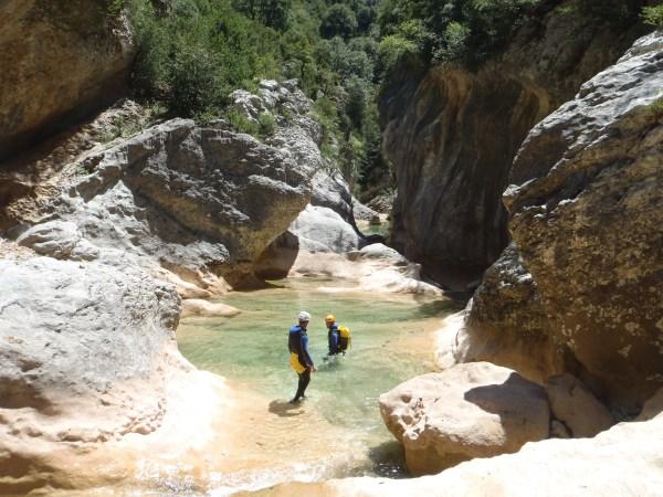 Definitivamente el cañón se empieza a abrir, nos esperan largas badinas y largos tramos de nado